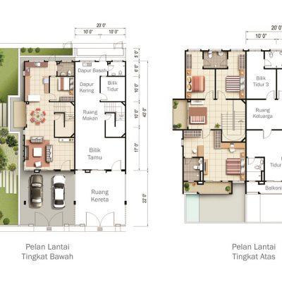 Taman Teja Type A Floor Plan
