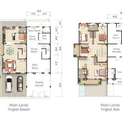 Taman Teja Type B Floor Plan